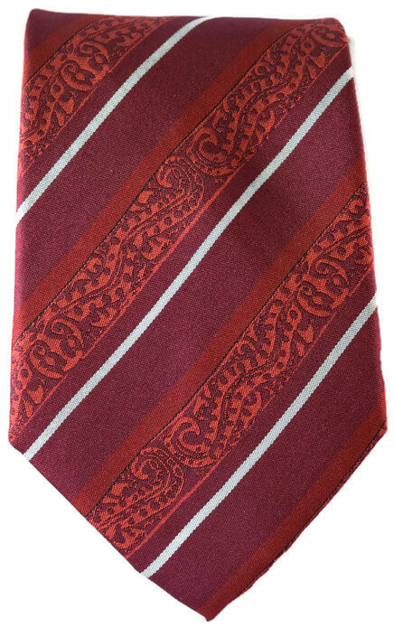 Striped Red & Grey Classic Tie