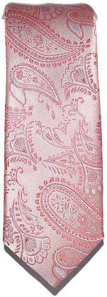 Pink Paisley Skinny Tie