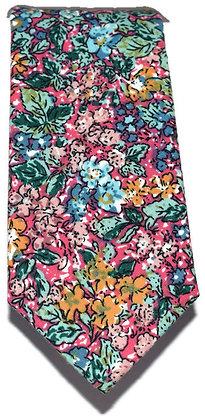 Multi-Coloured Floral Skinny Tie