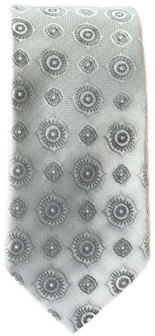 Silver Skinny Tie