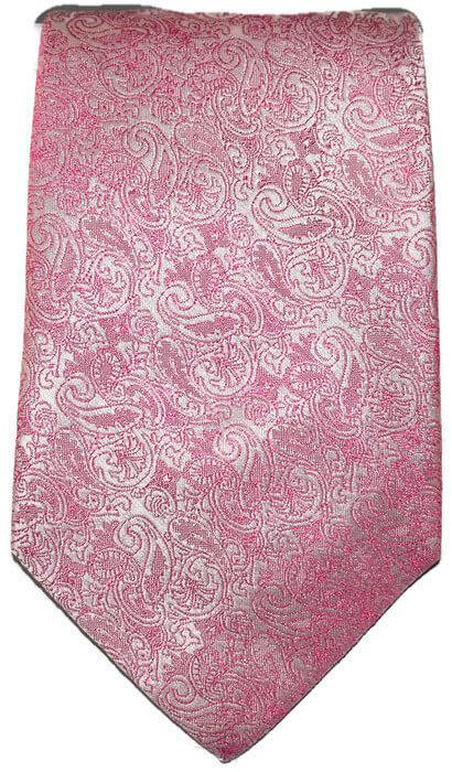 Pink Paisley Classic Tie