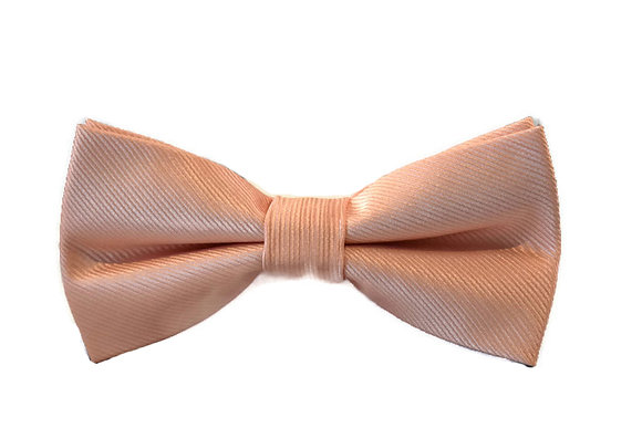 Peach Bow Tie