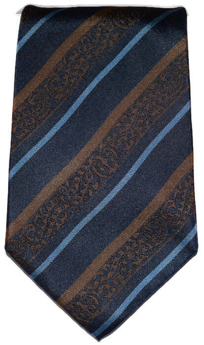 Striped Blue & Brown Classic Tie