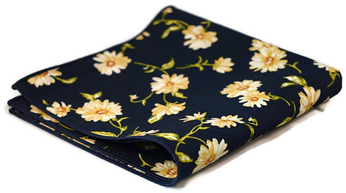 Daisy Floral Pocket Square
