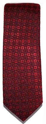 Red Textured Skinny Tie