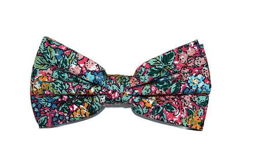 Multi-Coloured Floral Bow Tie