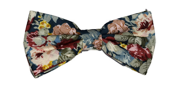 Rose Medley Floral Bow Tie