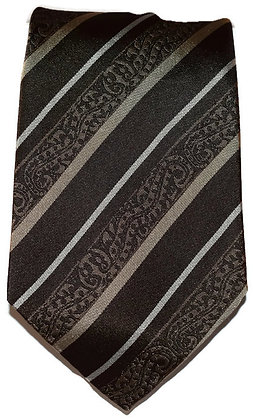 Striped Brown & Gold Classic Tie