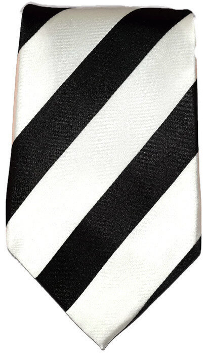 of Black and White Striped Classic Tie