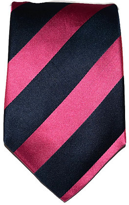 Navy & Pink Striped Classic Tie