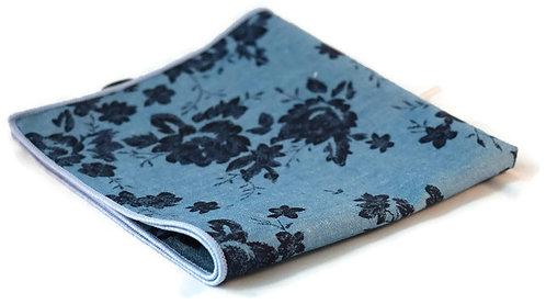 Blue & Navy Floral Pocket Square