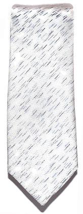 Streaked Silver Skinny Tie