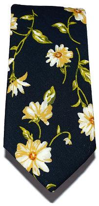 Daisy Floral Skinny Tie