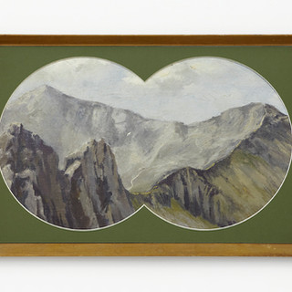 Snowdon from Crib Goch by J.Q. Browne, 1968