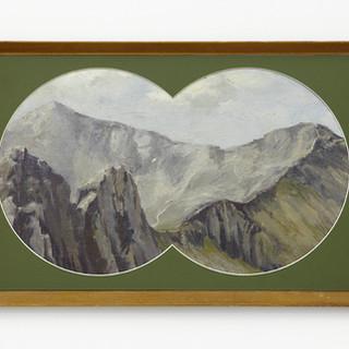 Snowdon from Crib Goch by J.Q. Browne, 1968