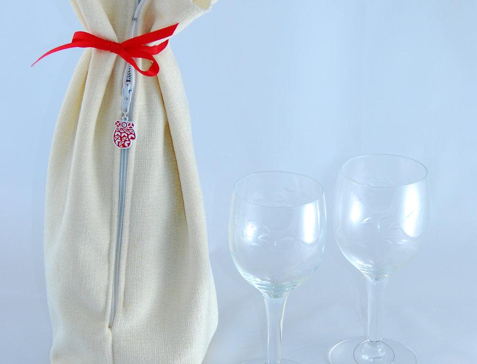 Wine/Bottle Gift Bag & 2 stem glass charms