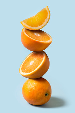 オレンジの山