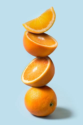 Högen av apelsiner