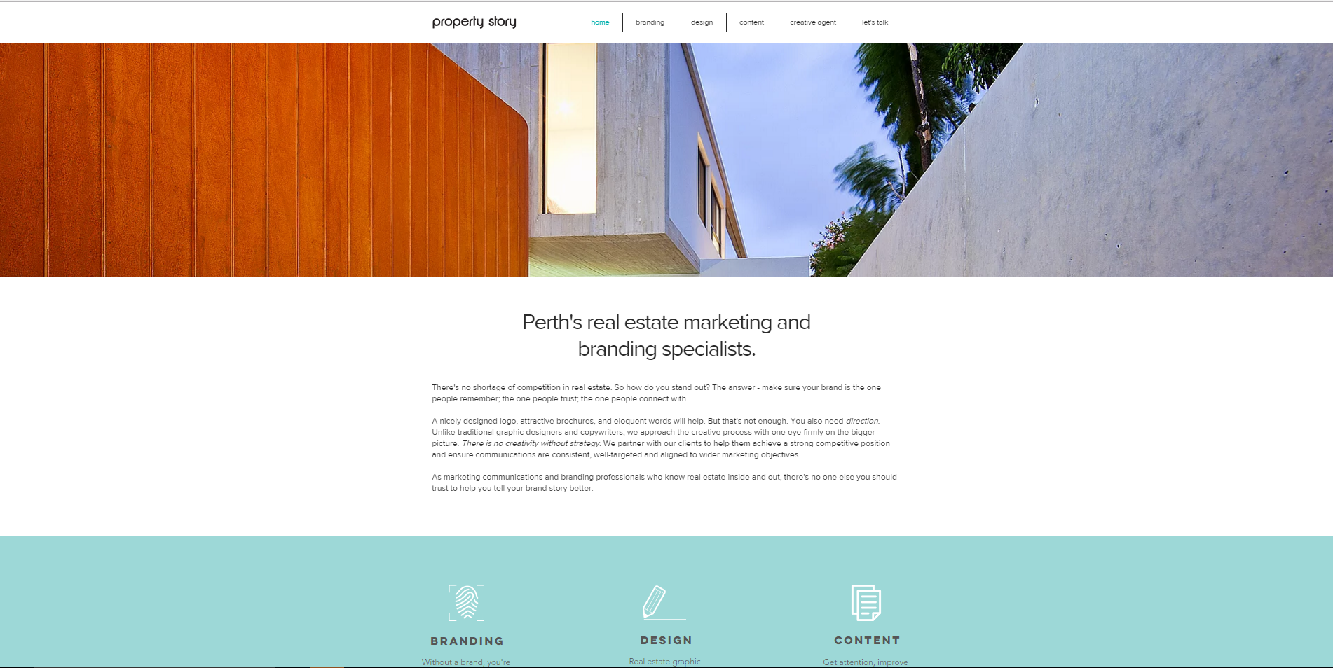 real estate marketing perth branding design copy property story