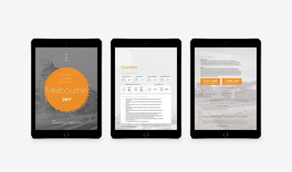 Momentum Wealth marketing design brand copywriting