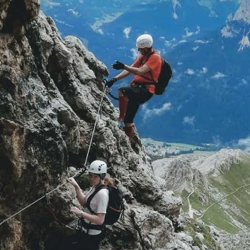 On the Rotwand via ferrata
