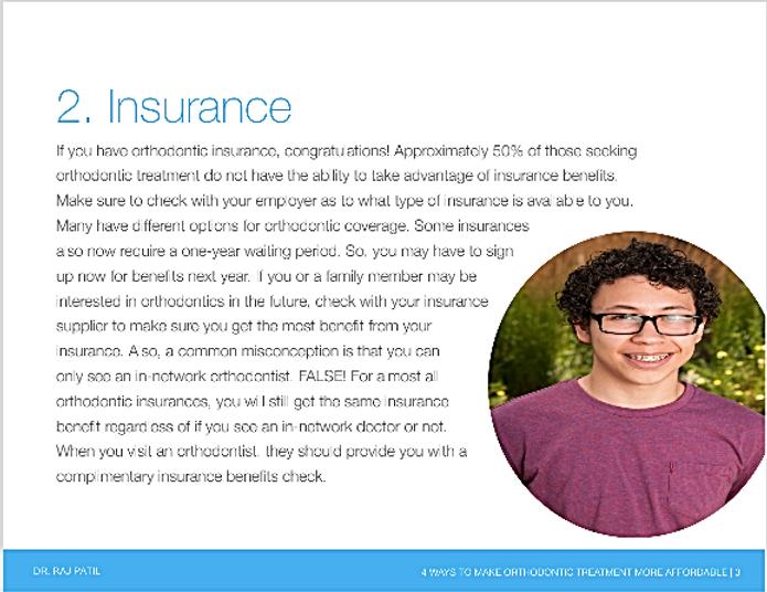 Insurance for braces