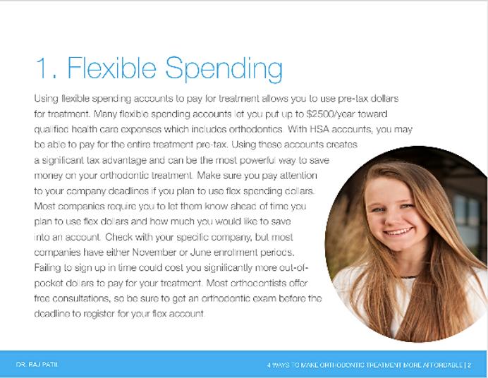 Flexible spending for braces