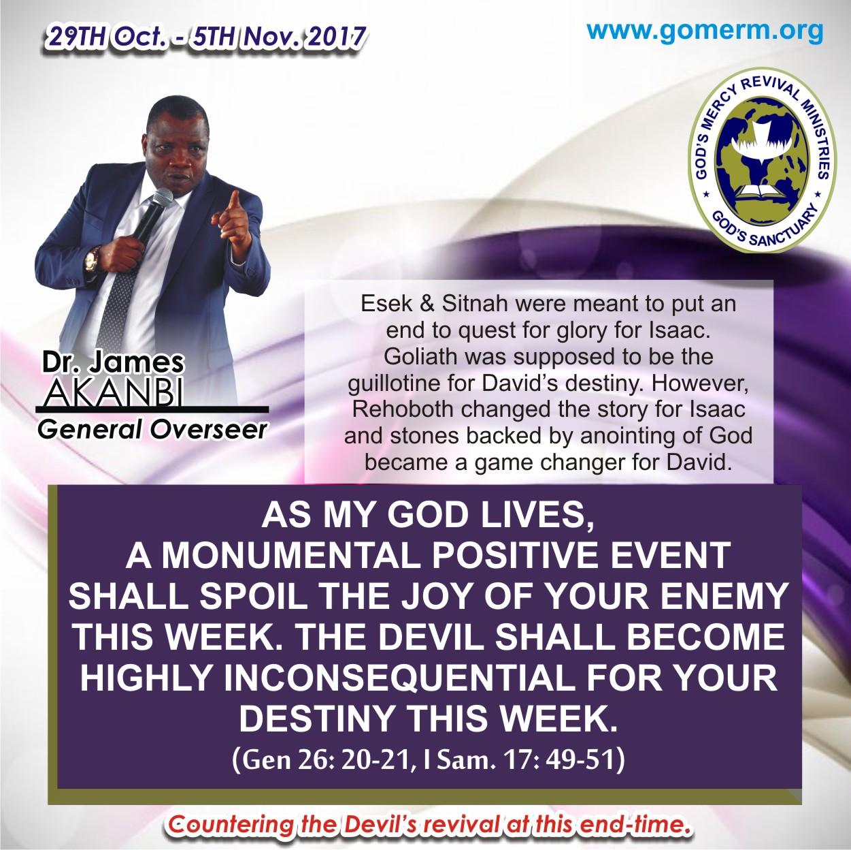 God's Mercy Revival Ministries James Akanbi
