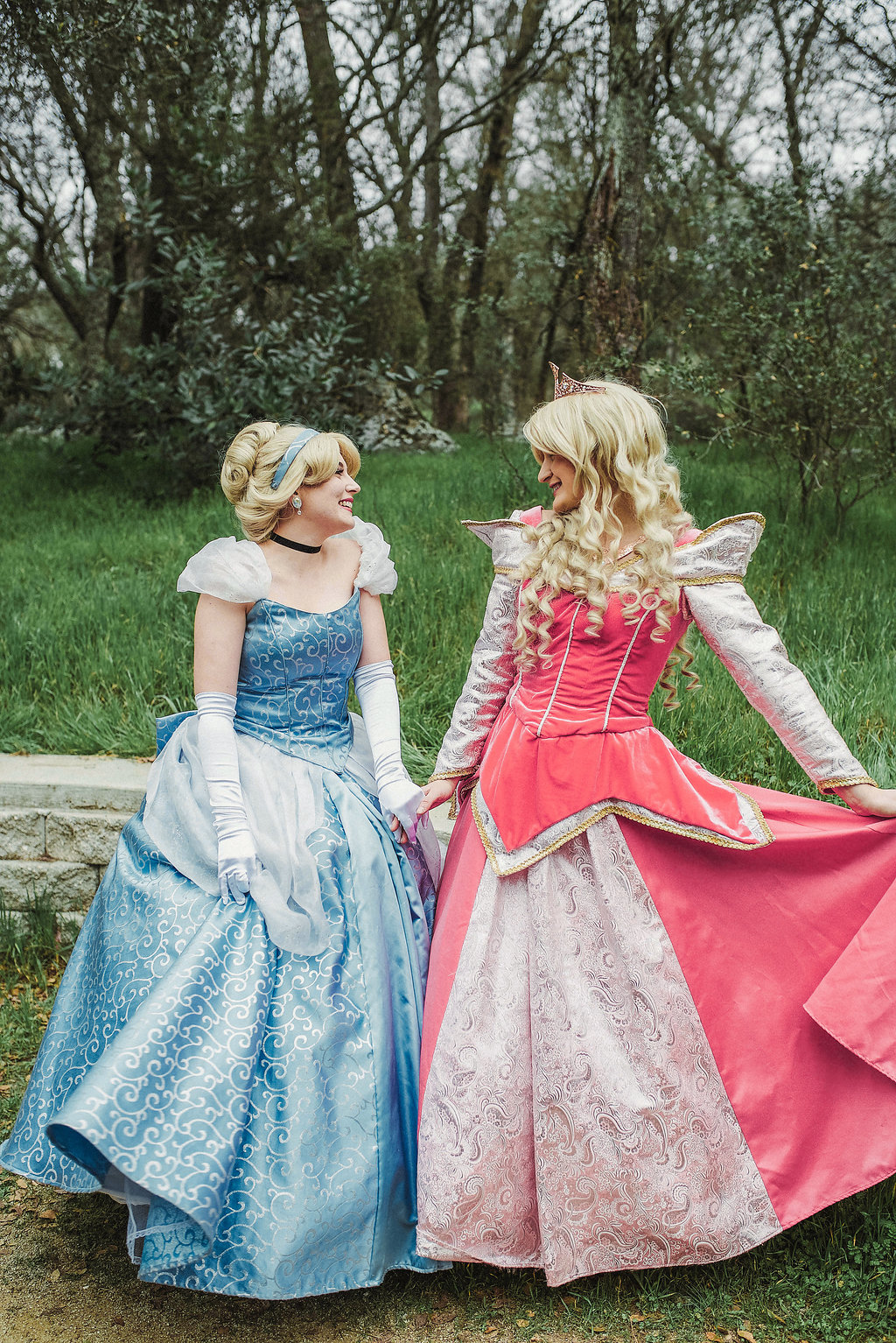 Princess Aurora and Cinderella