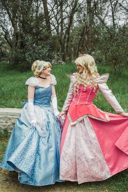 Princess Aurora and Cinderella