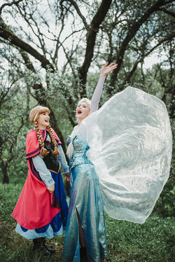 Elsa and Anna character