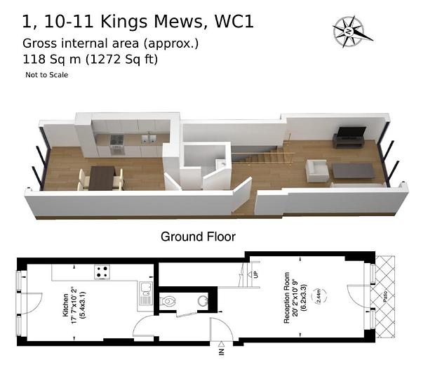 Flat 1, Kings Mews, floor plan