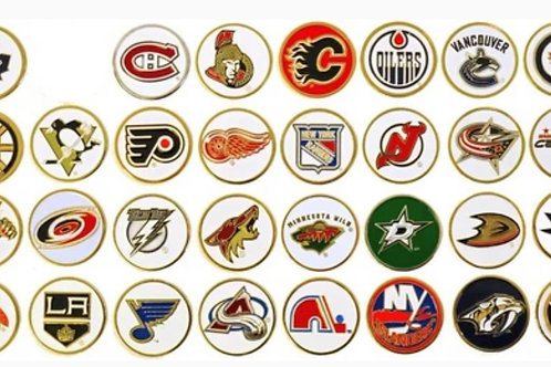 PICK 5 NHL BALL MARKERS