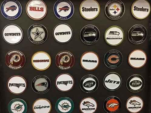 PICK 5 NFL BALL MARKERS