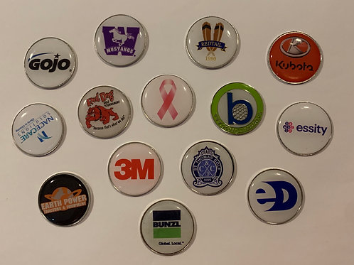 CUSTOM BALL MARKERS (MIN 50) - CALL / EMAIL ORDER