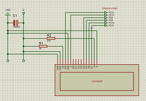 LCD1602A - STM32F4 Schematic