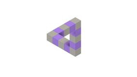 Penrose Triangle Illusion
