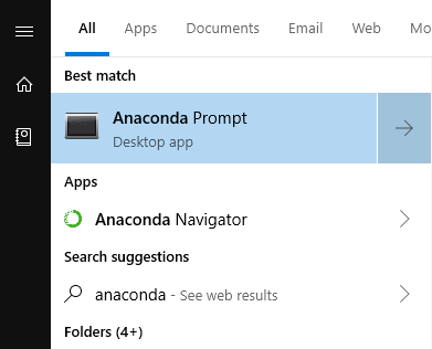 anacona prompt navigator windows search