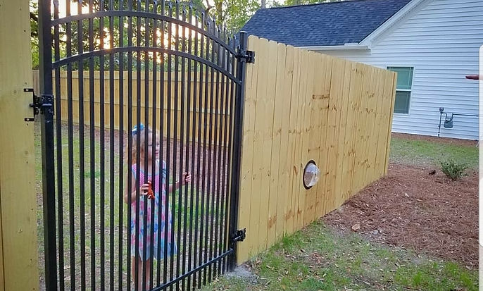 fence wood fence aluminum gate