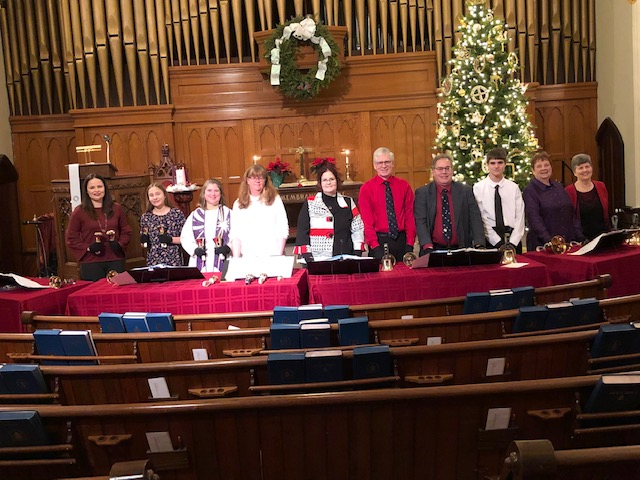 Bell Choir plays on Christmas Eve