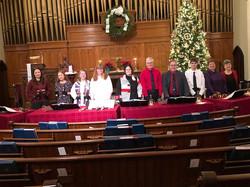 Bell Choir plays on Christmas Eve