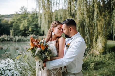 Boho-Hochzeit am See