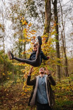 Familienfotos im Wald-3