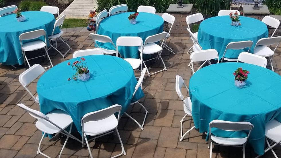 White Folding Chairs (w/Tent Rental)