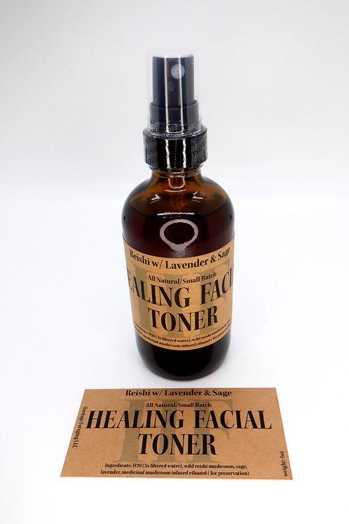 Healing Facial Toner with Reishi, Sage & Lavender