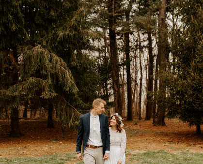 Minimal, romantic wedding hidden in the woods  |  Adventurous elopement  |  Grace J Photo