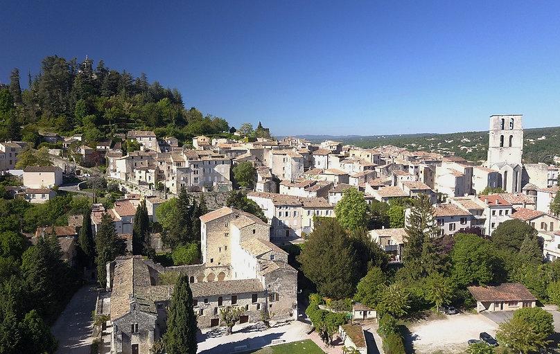 Photographie aérienne de Forcalquier dans les Alpes de haute Provence