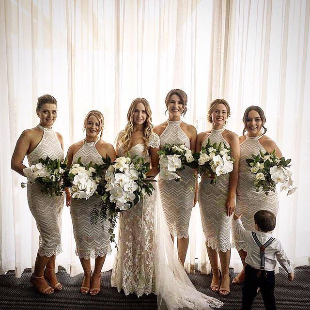 The Stunning Dominique and her Bride Tribe last weekend! Just Loved this tropical style! We had so m
