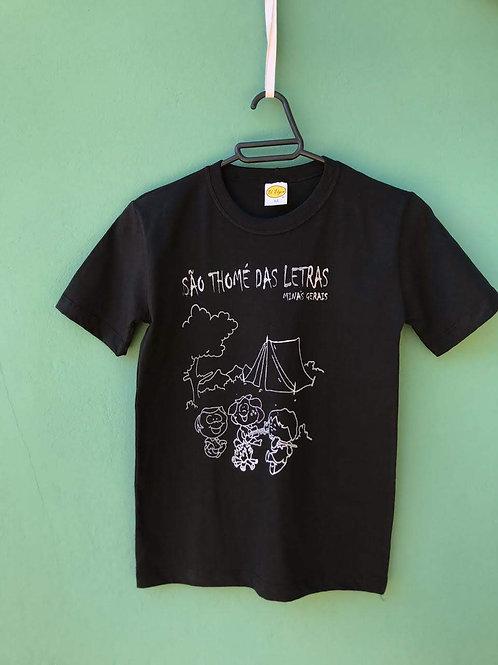 Camiseta infantil Acampamento