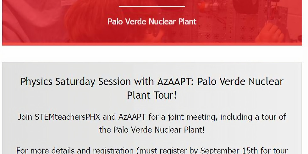 AzAAPT and STEMteachersPHX to Palo Verde Nuclear Plant